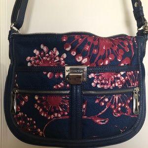 Tyler Rodan blue floral print purse